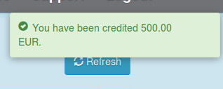 Credit notification