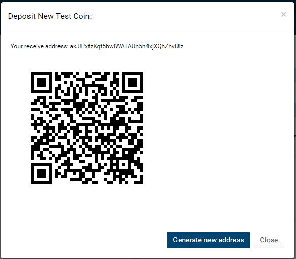 Get deposit wallet ID for colored coin asset in client interface